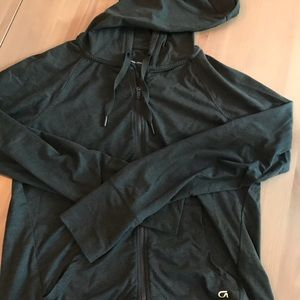GapFit long sleeve brushed tech jersey hoodie